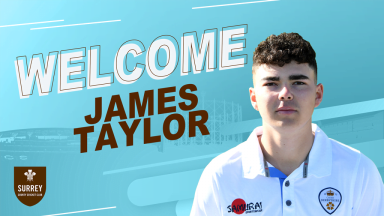 England Under-19's paceman James Taylor joins Surrey